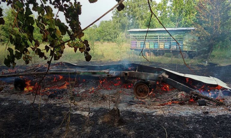 пожар Полтава пасека